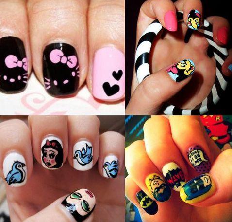 Cartoon Pattern Nail Designs for Kids | Latest Nail Art Designs ...