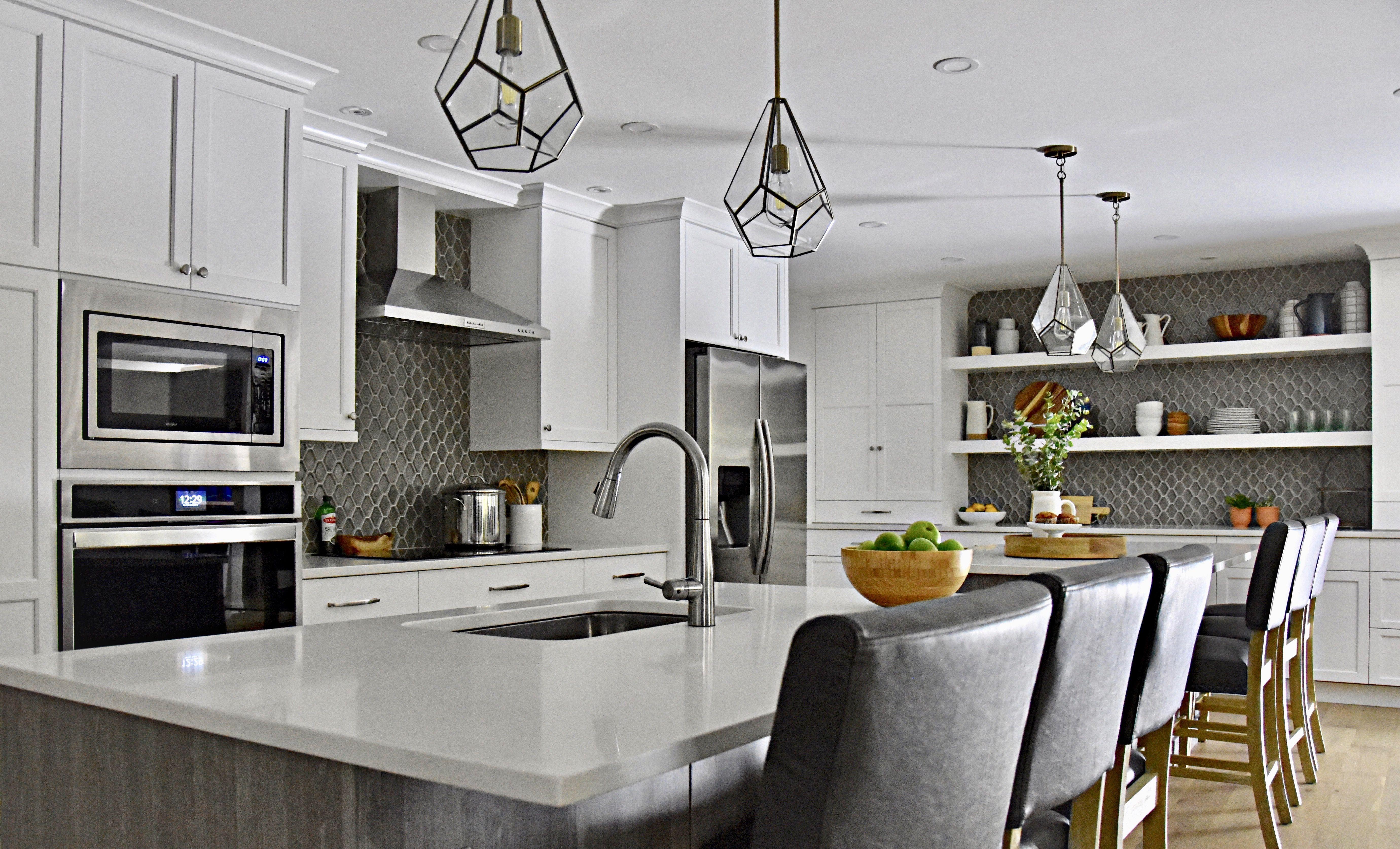 Stunning Bethesda Kitchen Submitted By Elena Glas Home Greytile Openshelving Kitchen Trends Country Kitchen Designs Kitchen Design