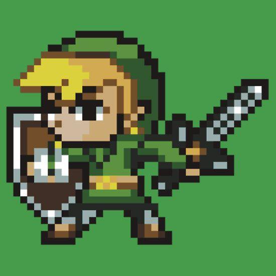 The Legend Of Zelda Link 16 Bit Sprite Classic T Shirt By