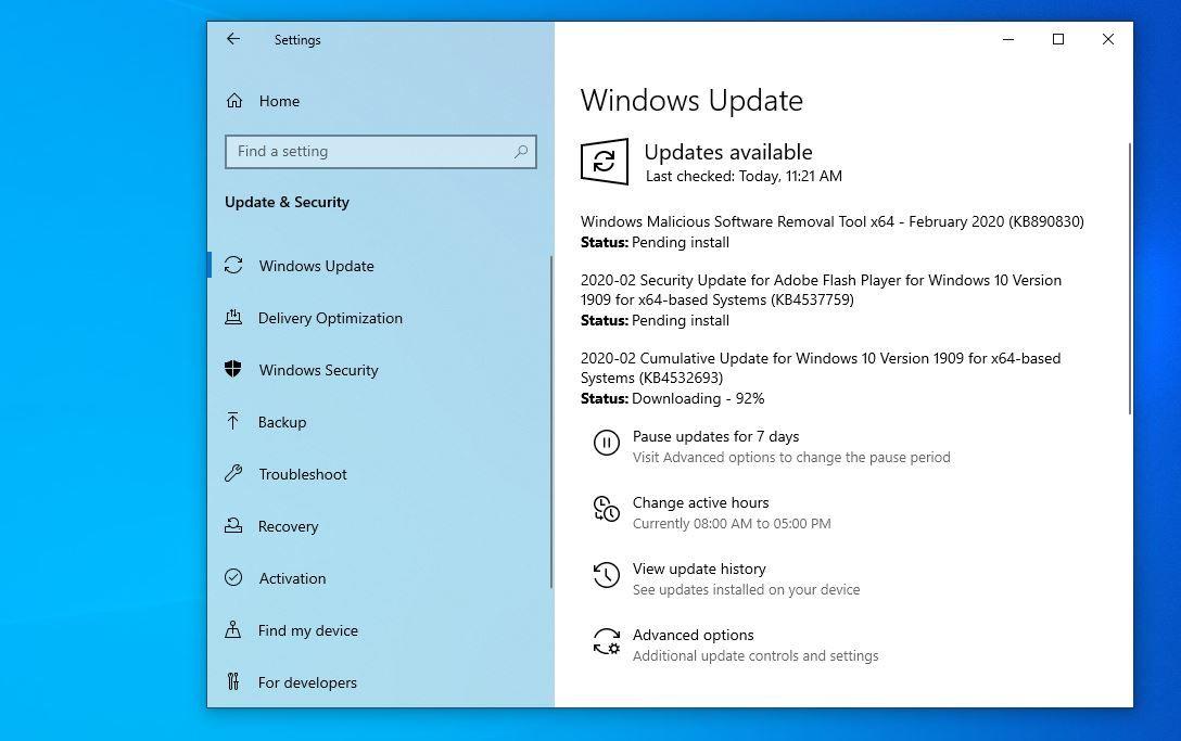 Windows 10 1909 Cumulative Update Kb4540673 Failed To Install