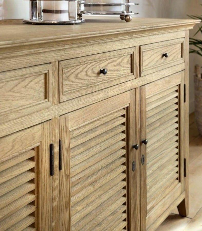 Aparador de madera Hampton blanco o roble natural | Reforma | Pinterest