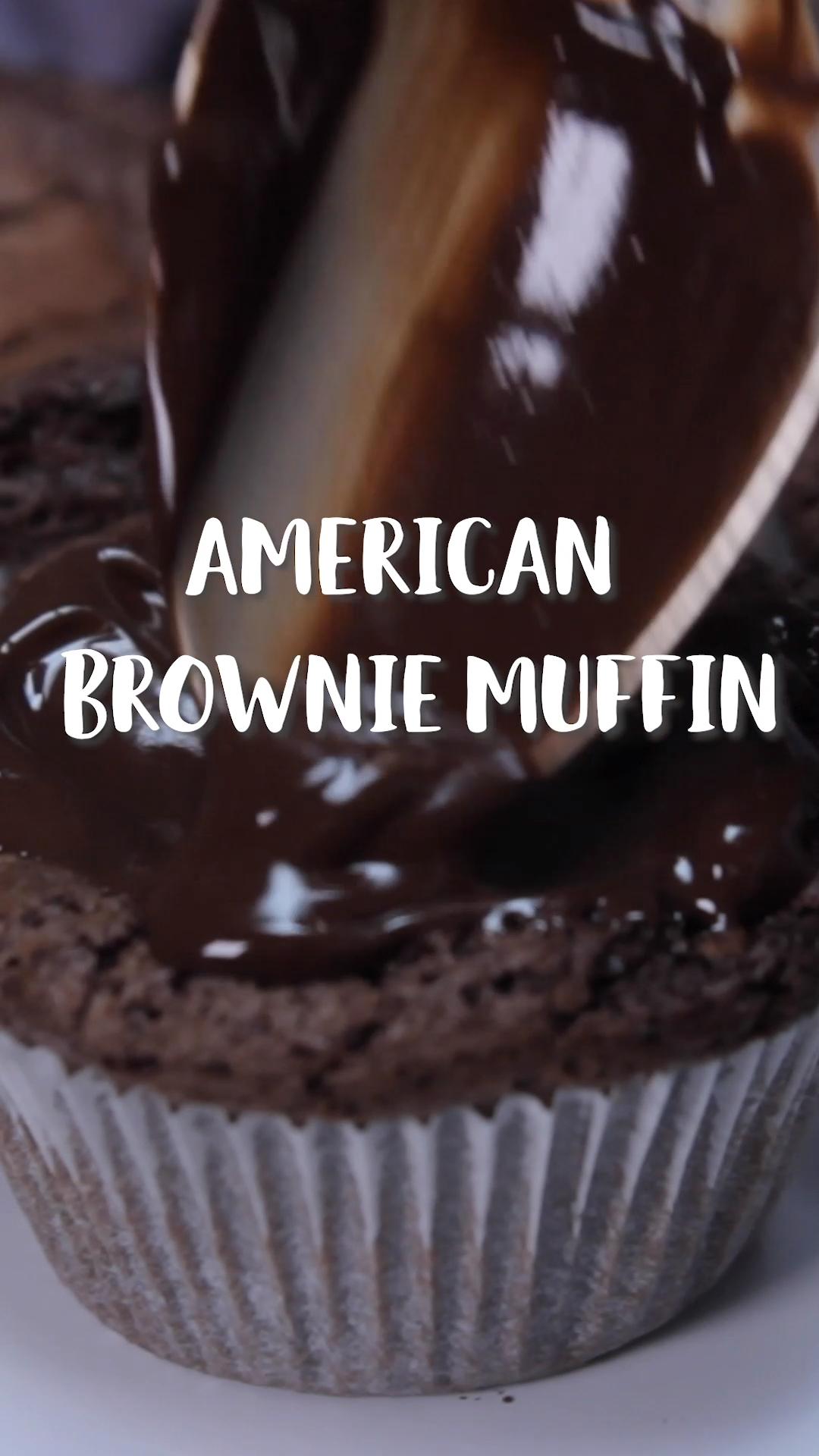 So schokoladig: American Brownie Muffins