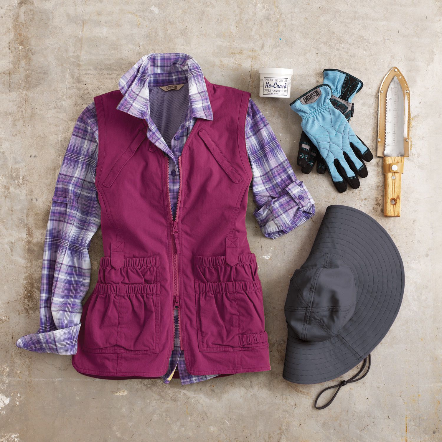 Our Womens Heirloom Gardening Vest has 12 pockets so it holds