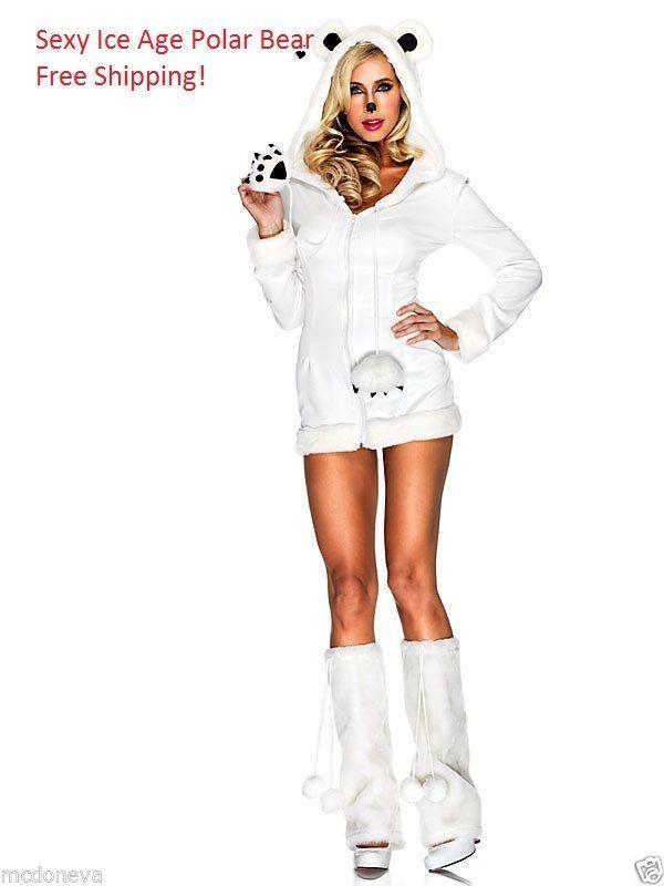 Halloween costume Polar Bear Sexy NEW Size Medium Large Plus Frozen Ice Age  #LegAvenue #Dress