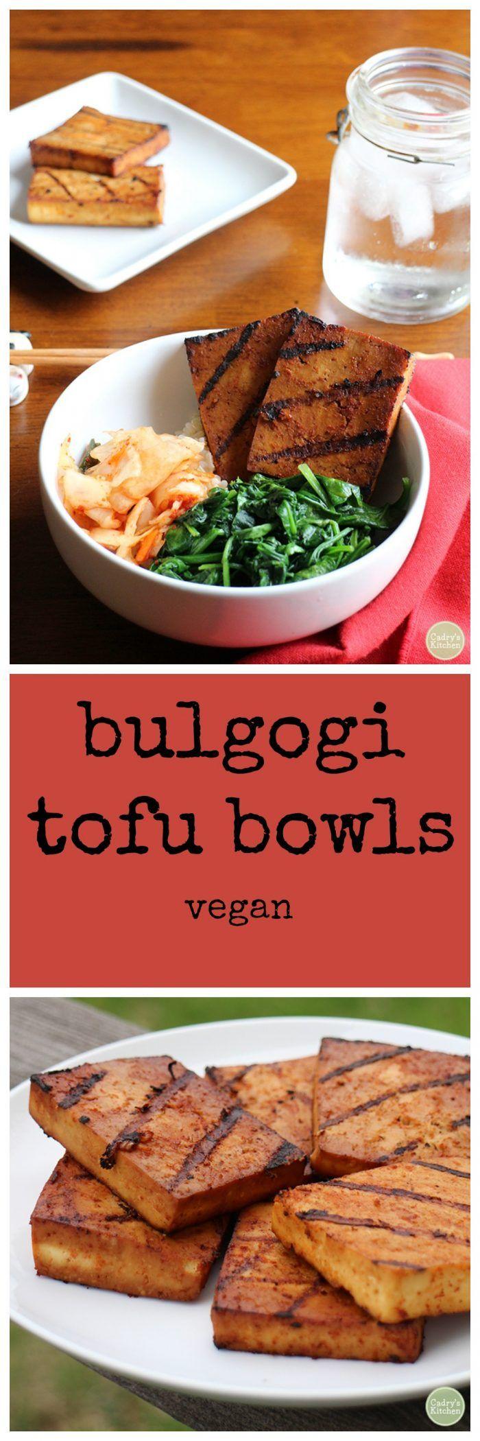 Bulgogi Tofu Bowls | Recipe | Vegan dinner recipes, Vegan ...