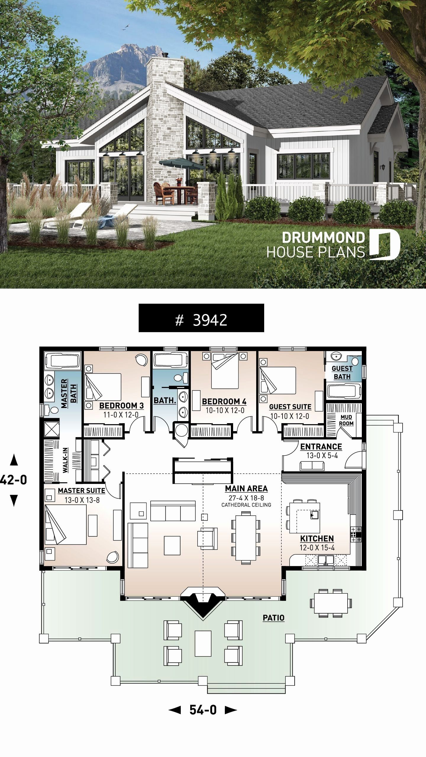 20 Bedroom House Plans Fresh 20 4 Bedroom House Designs In 2020 Lake House Plans Sims House Plans House Plans Farmhouse