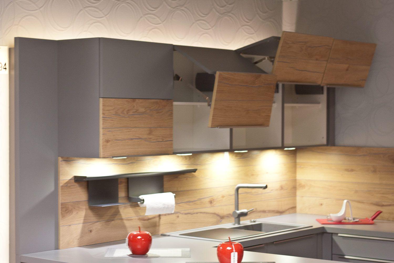 Oberschränke mit Falt-Lifttüren   Moderne Küchen   Pinterest ...