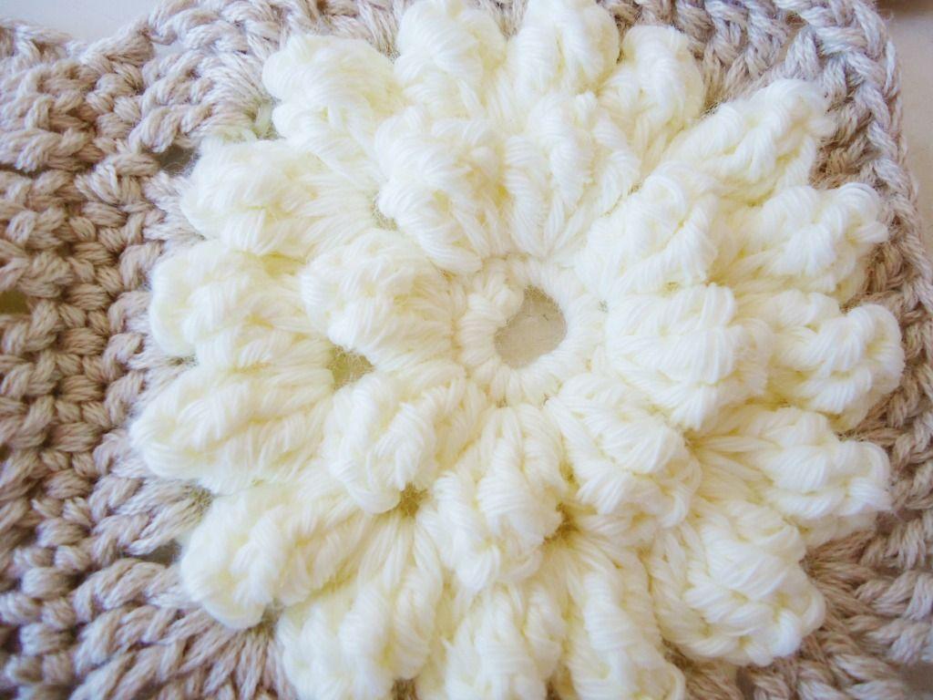 Popcorn Flowers Crochet Granny Square Crochet Crochet Crochet