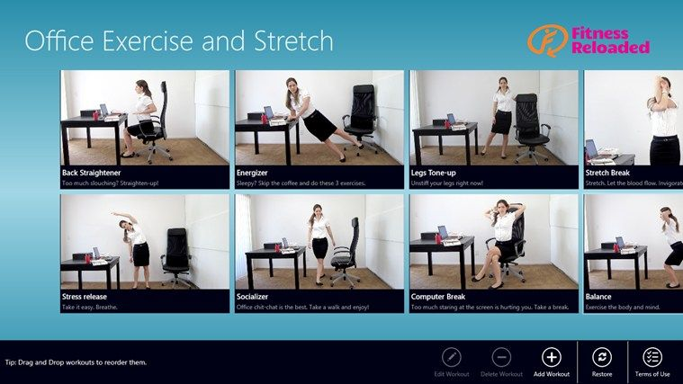 Office Exercise & Stretch app   Stay fit while you freelance