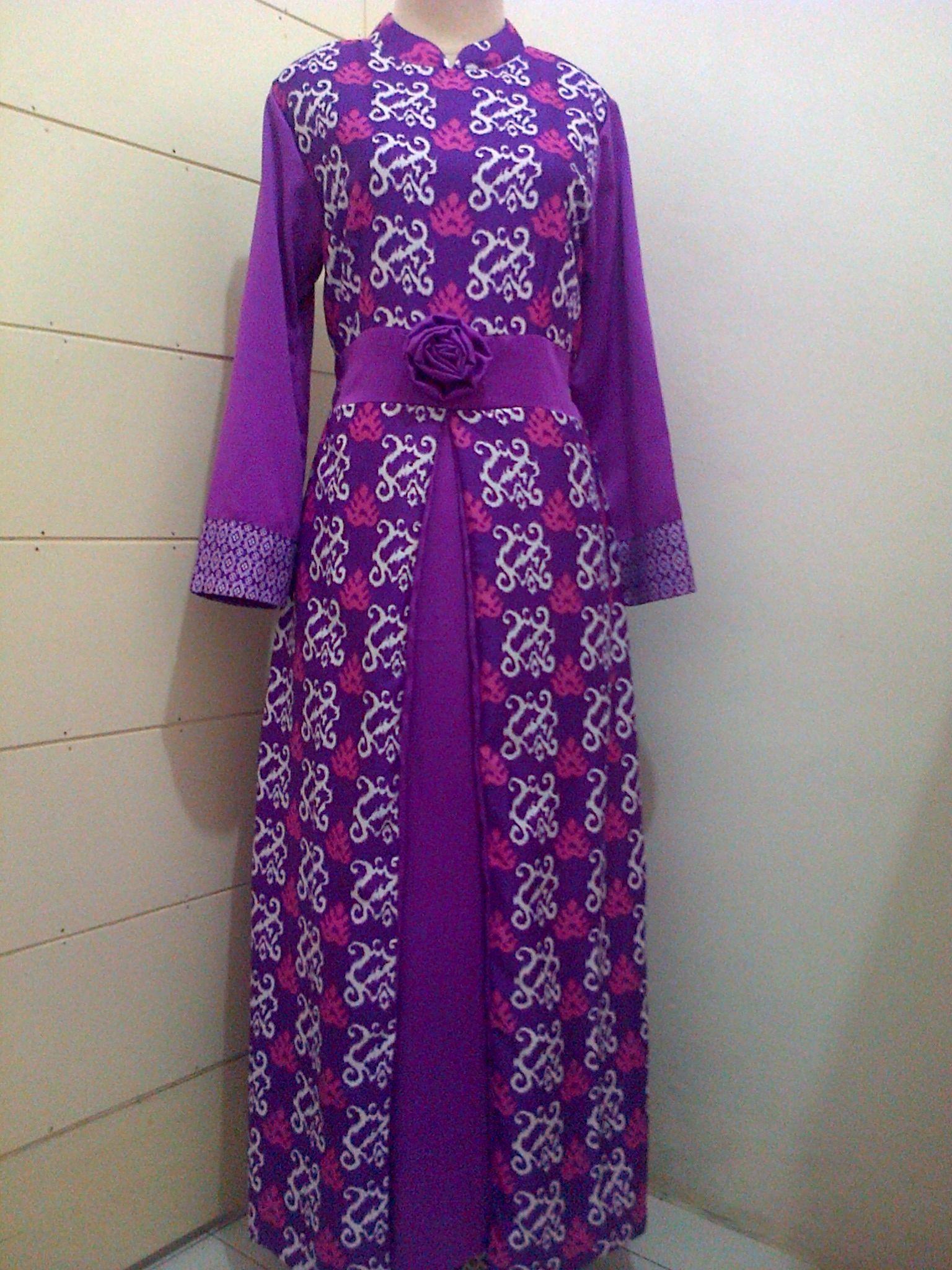 Model Gamis Batik Kombinasi Velvet di 9  Model pakaian, Gaun