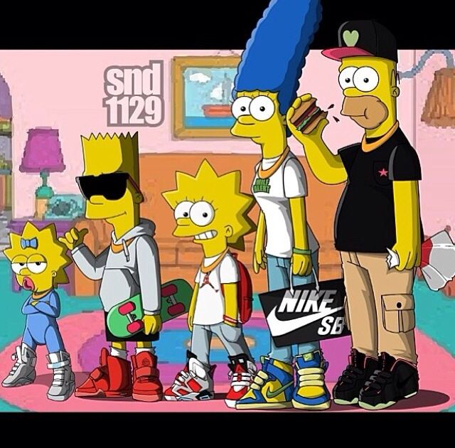 Nike + Simpsons | Simpsons art, Simpson wallpaper iphone, The simpsons