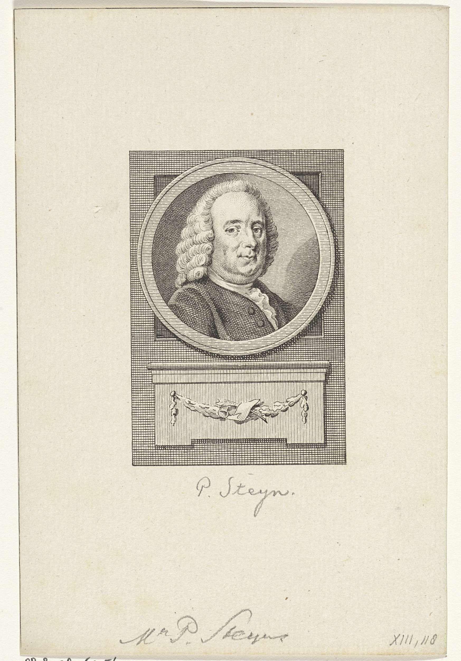 Reinier Vinkeles   Portret van Pieter Steijn, Reinier Vinkeles, Cornelis Bogerts, Jacobus Buys, 1783 - 1795   Portret van Pieter Steijn, raadpensionaris van Holland.