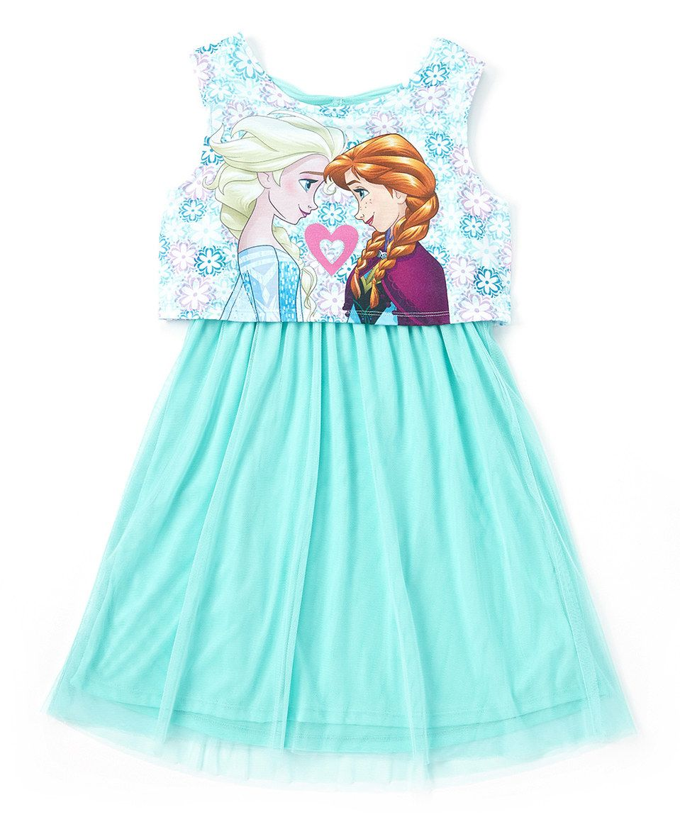 09bf1f8a8e Love this Frozen Elsa   Anna Sisters Teal Tie-Back Dress - Girls by Frozen  on  zulily!  zulilyfinds