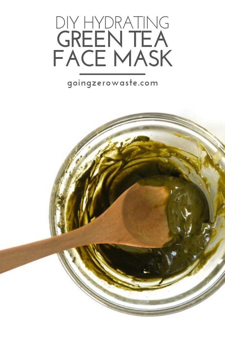 DIY Hydrating Green Tea Face Mask - Going Zero Waste