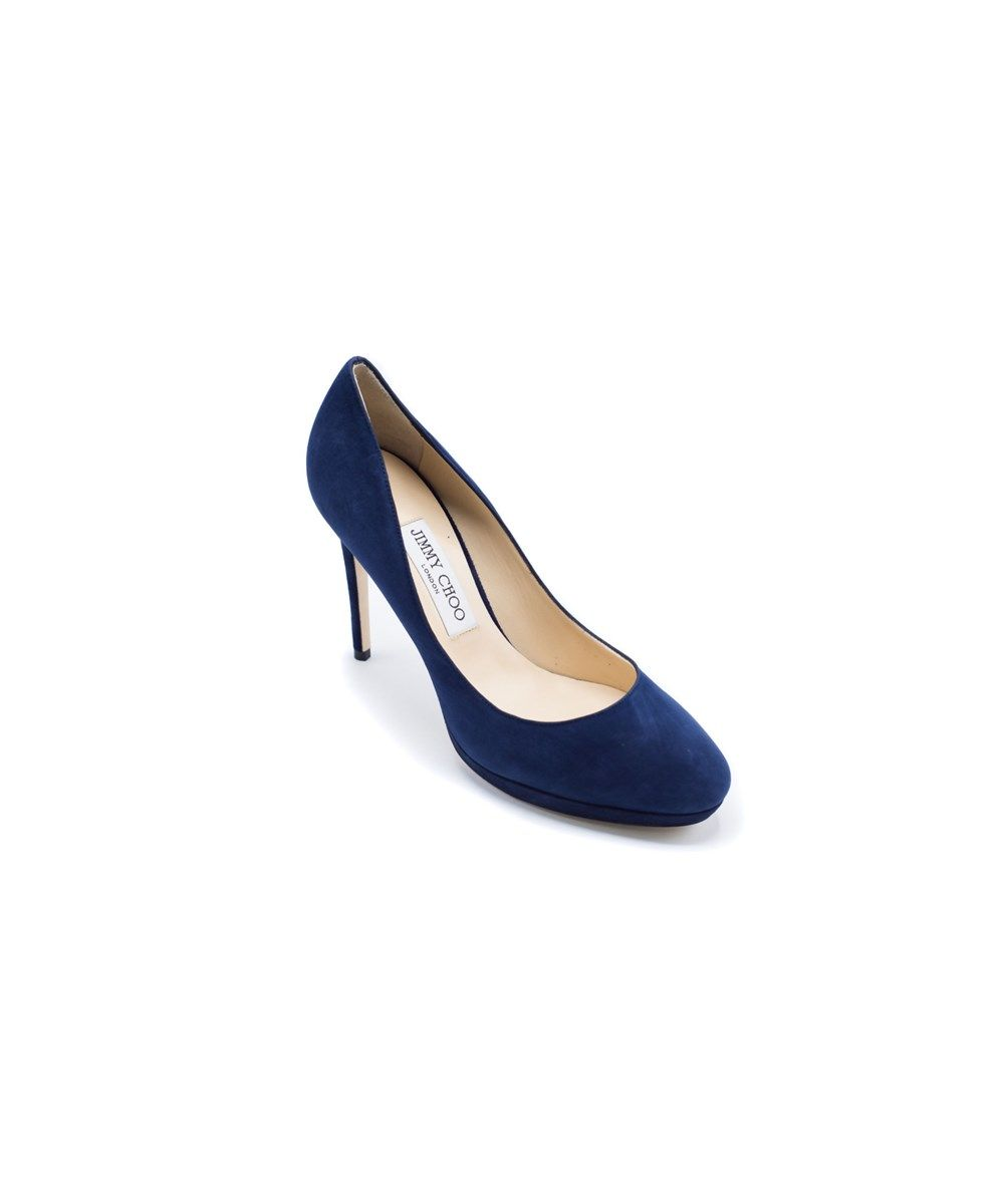 1e9f5a6fb00e JIMMY CHOO Jimmy Choo Womens Navy Classic Suede Hope 100 Pumps .  jimmychoo   shoes  pumps   high heels