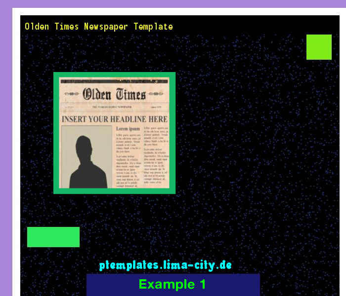 Olden Times Newspaper Template Powerpoint Templates 13519 The