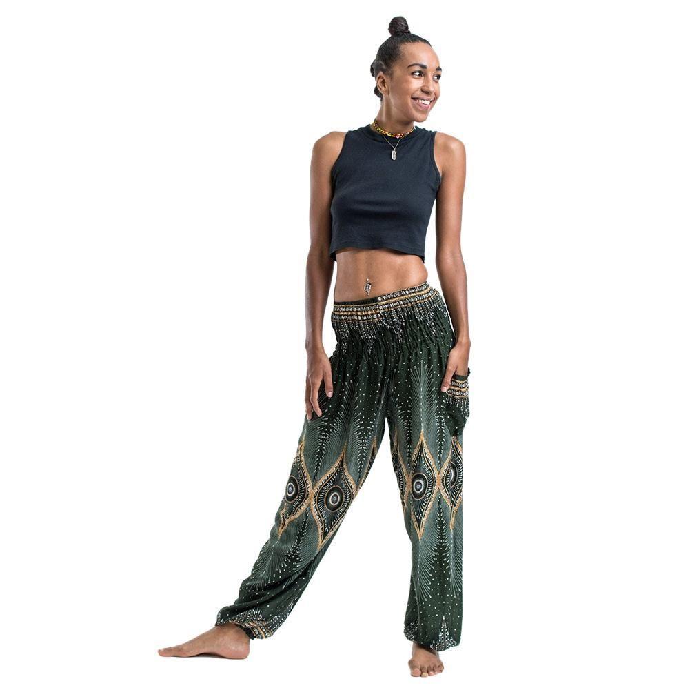 05b7cdfa21 Summer Plus Size Beach Harem Pants Women Leisure High Waist Floral Print  Pants Vintage Loose Trousers Women