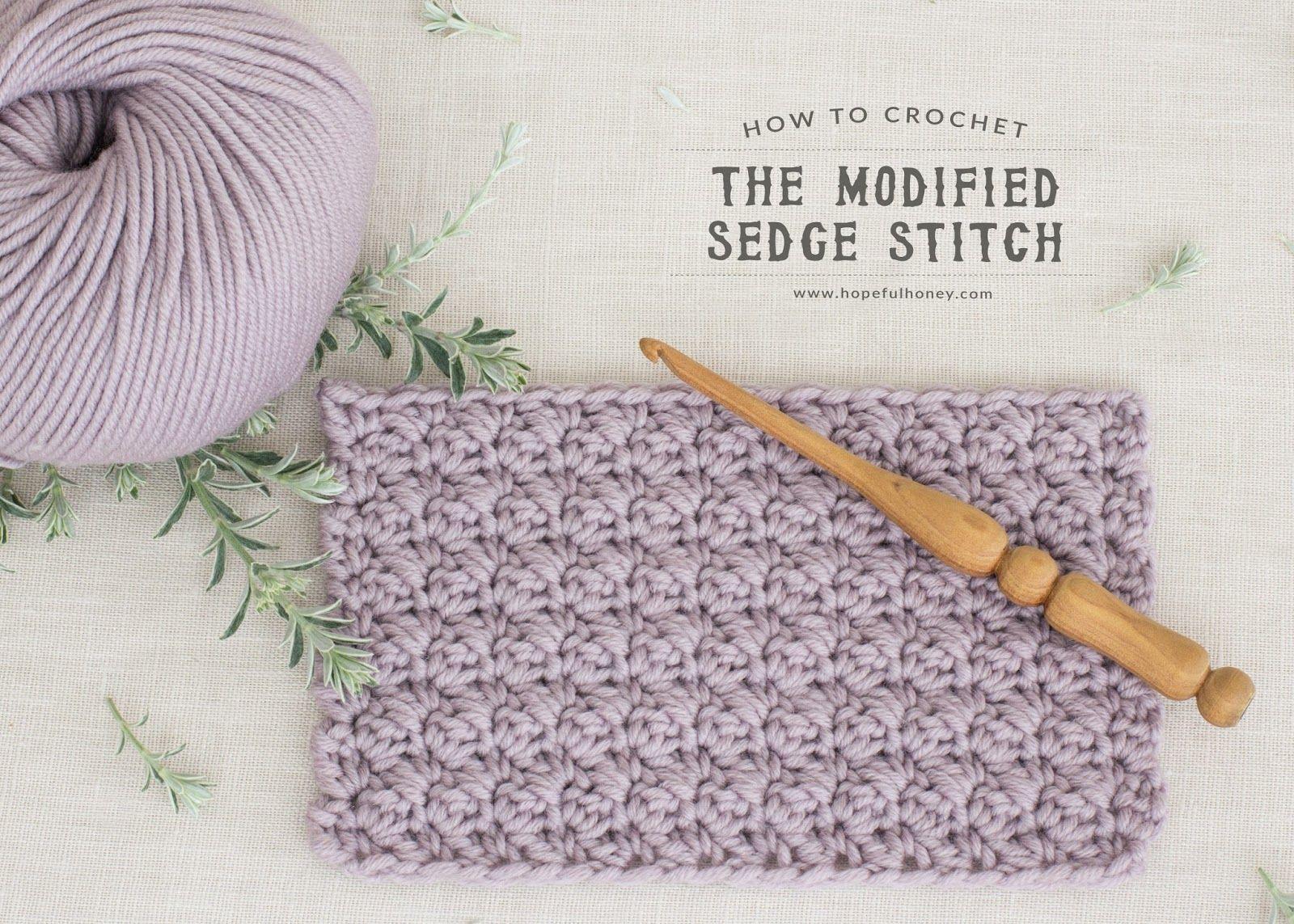 How To Crochet The Modified Sedge Stitch - Tutorial by | Stiche ...