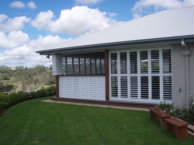 Louvered Exterior Plantation Shutters For Sunrooms Patios