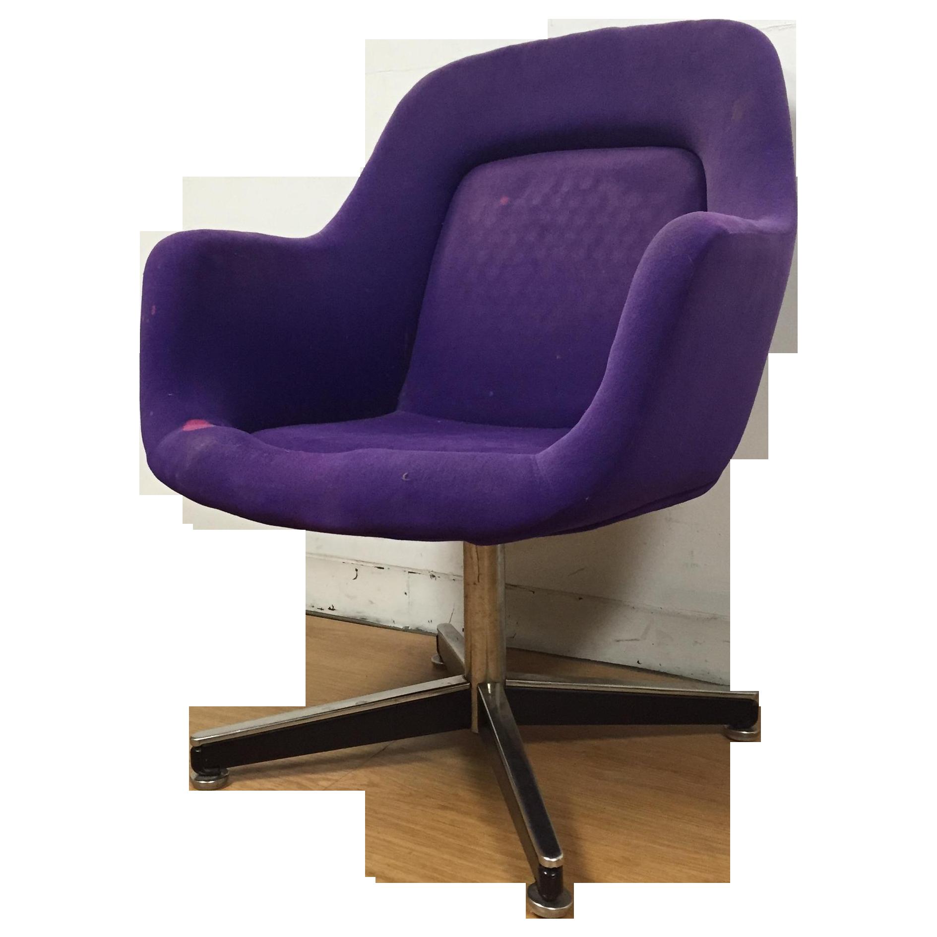 Purple Knoll Swivel Chair