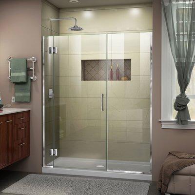 Dreamline Unidoor X 72 X 52 Hinged Frameless Shower Door With