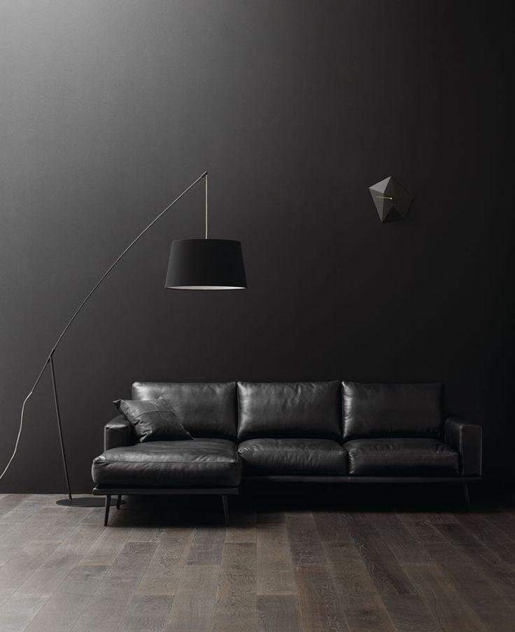 Carlton Sofa In Black Leather @ BoConcept Houston. 4302 Westheimer Road,  Houston. 713
