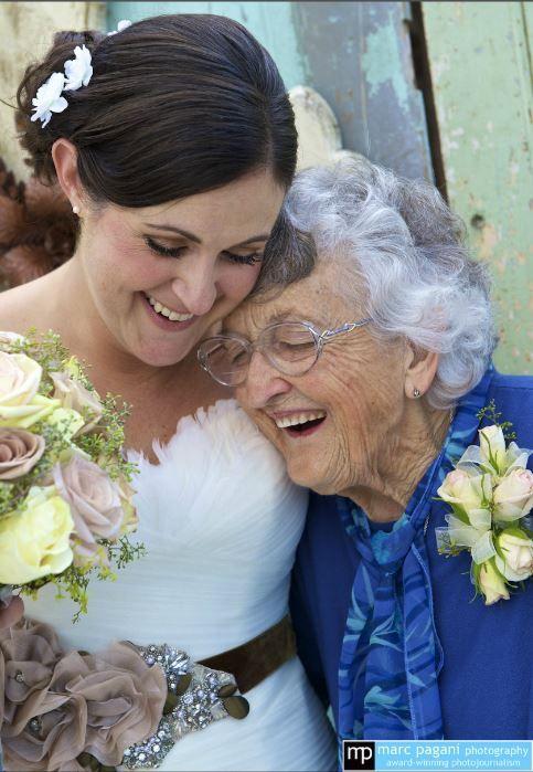Adorable Bride & Grandma!! | Marc Pagani Louisiana http://www.weddingphotousa.com/city/new-orleans/marc-pagani-photography/