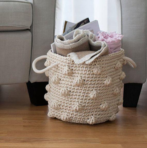 Crochet basketRope basketStorage basketNursery basketChildren storage basket Toys storage. & Crochet basketRope basketStorage basketNursery basketChildren ...