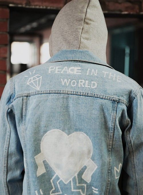 Writing On The Denim Jacket And Hoodie Ladonnis Jaket