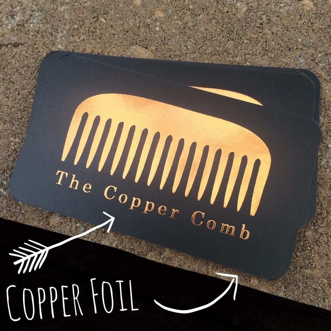 Another glance at these beauties. 😊 Copper foil business cards for ...