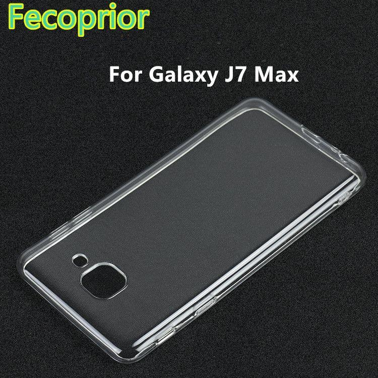 cheaper f0cb6 81123 J7Max Clear Soft TPU Back Cover For Samsung Galaxy J7 Max Case Gel ...