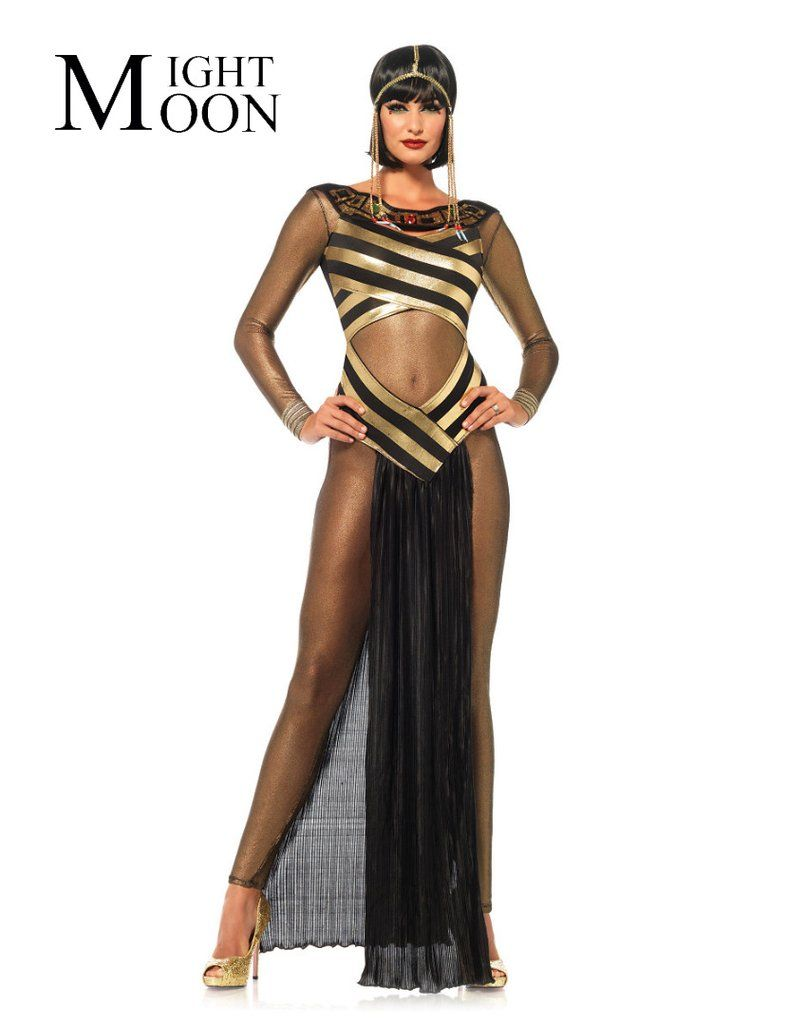 036ad467a08 MOONIGHT Adult Egyptian Cleopatra Costume Gothic Sexy Halloween Costumes  For Women