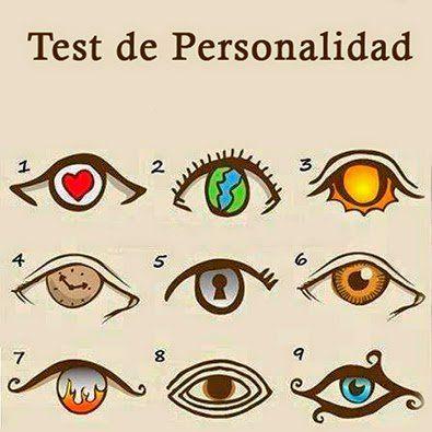 Test de personalidad. Primero elige el ojo que más llame tu atención. Para elegirlo debes confiar en tu intuición a primera vista. Este es un simple juego para relajarnos y divertirnos, que puede ayudarte a reflexionar más acerca de ti mismo y tus propios gustos e inquietudes. 1- Personalidad Confiada Tú eres el tipo de …