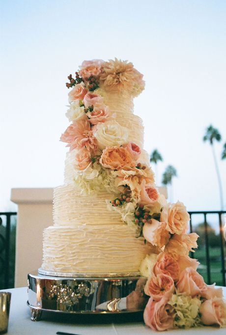 Brides: Five Tiered Cake with Roses