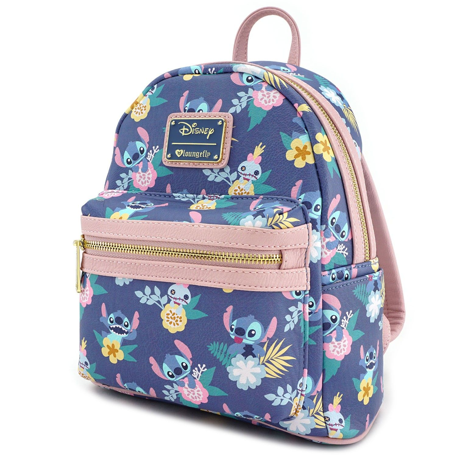 e81b6cacff Loungefly x Stitch   Scrump Floral Print Mini Faux Leather Backpack -  Backpacks - Whats New