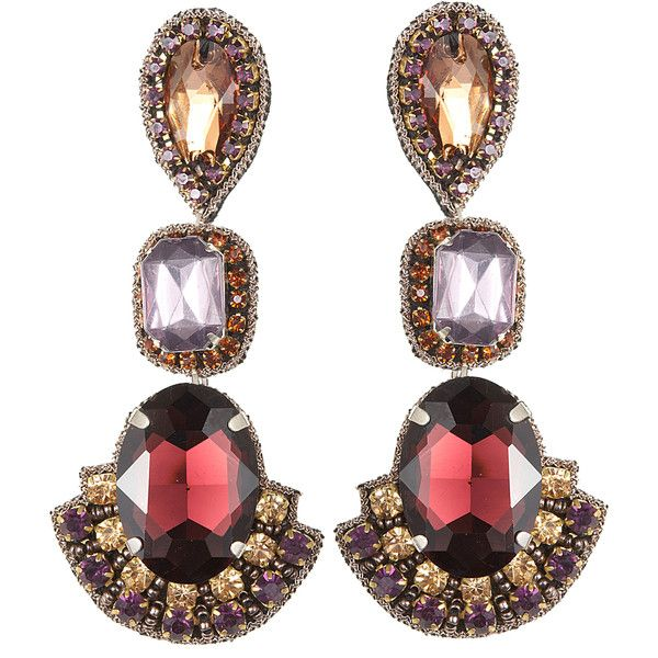 SUZANNA DAI 3 Drop Gem Earrings | ACCESSORIES SHOW ...