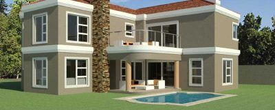 3 Bedroom Double Storey House Plan [South Africa]