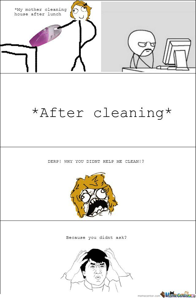 my mom cleaning - Meme by boobyb0b :) Memedroid