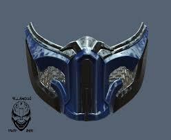 Mortal Kombat 11 Sub Zero Mask Etsy Kitsune Mask Mortal Kombat Helmet Concept