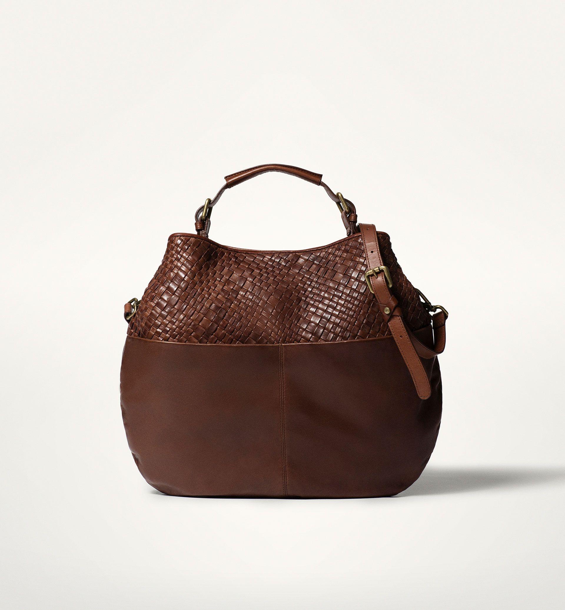 5e74077771b Massimo Dutti dark brown BRAIDED BAG hobo   brown, burgundy, tan ...