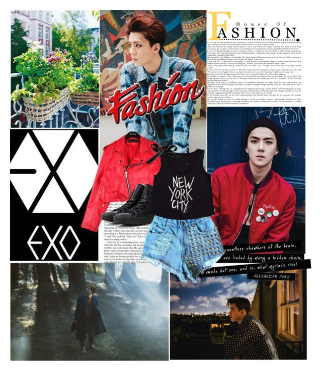 """""""EXO Exodus"""" by bangles77 ❤ liked on Polyvore featuring StyleNanda, Converse and Billabong"""