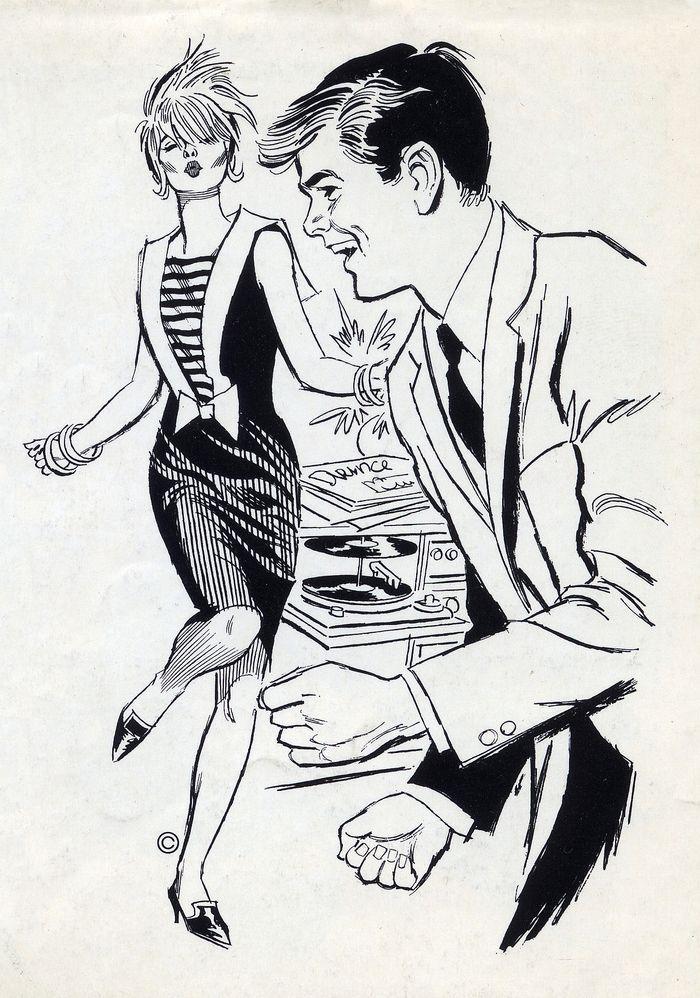 1962 Clip Art Vintage illustration, Clip art vintage