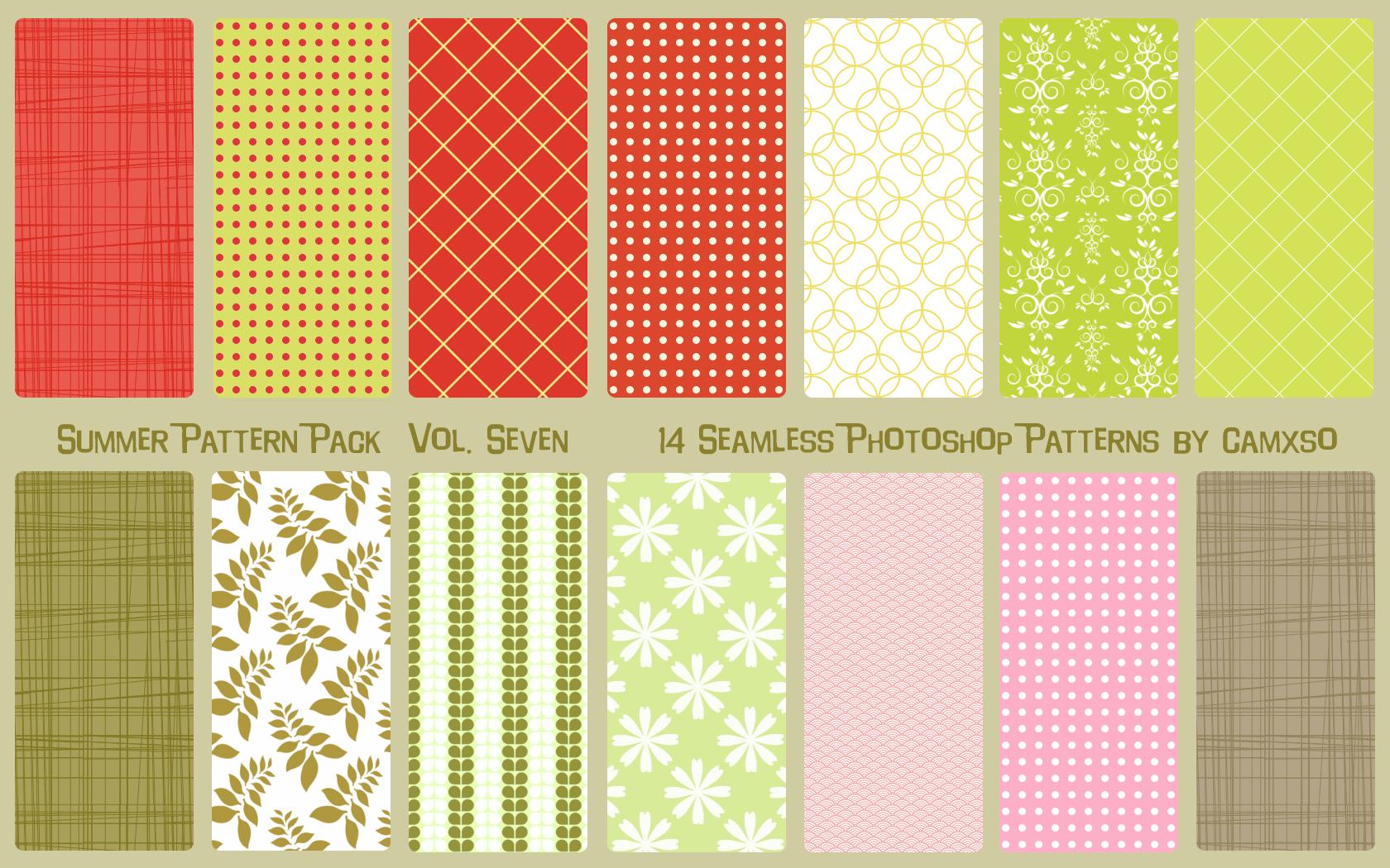 Summer Pattern Pack Vol  7 by Camxso deviantart com on