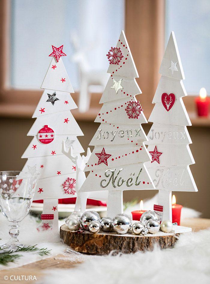 Cultura Noel Trio de sapins pour Noël | Deco noel, Noel, Tuto deco noel