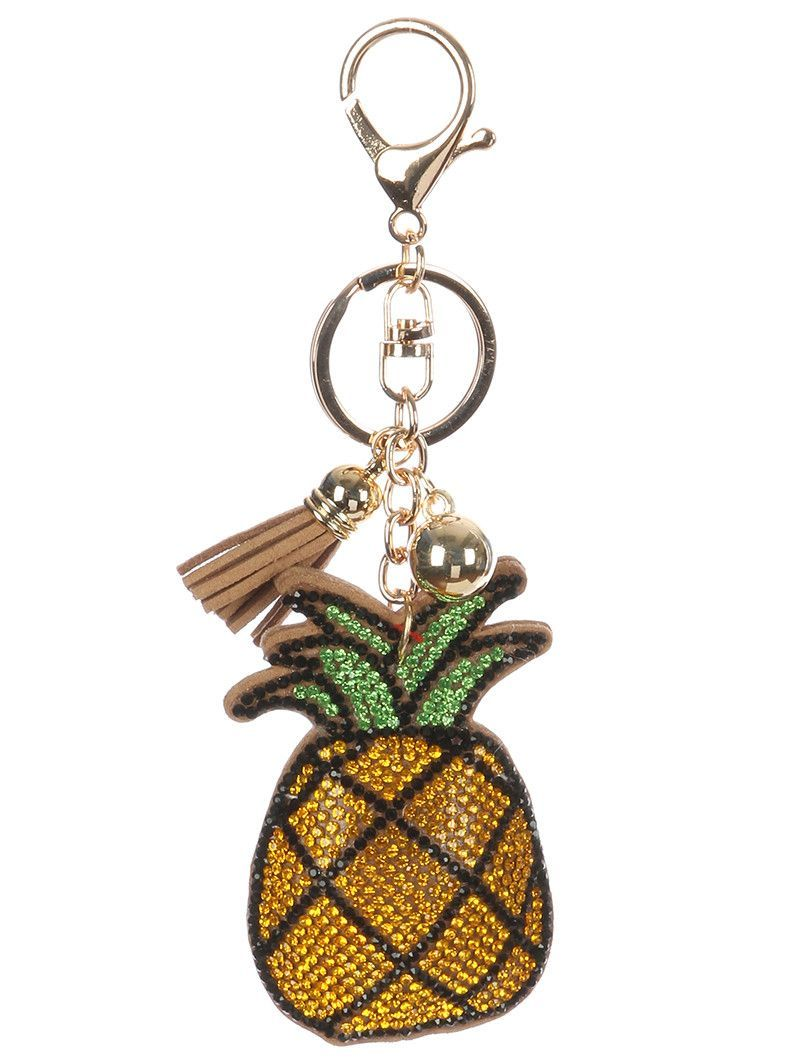 Pineapple Stuffed Pillow Key Chain