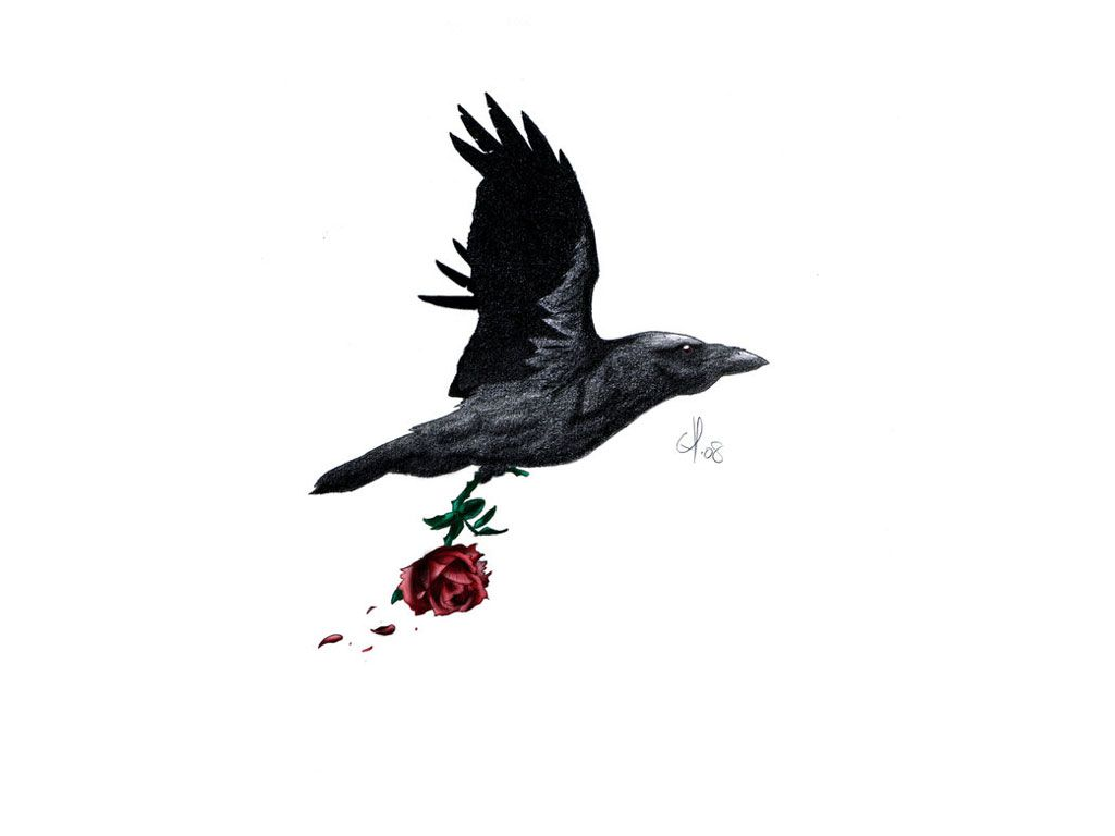 raven silhouette tattoos for women free download awesome