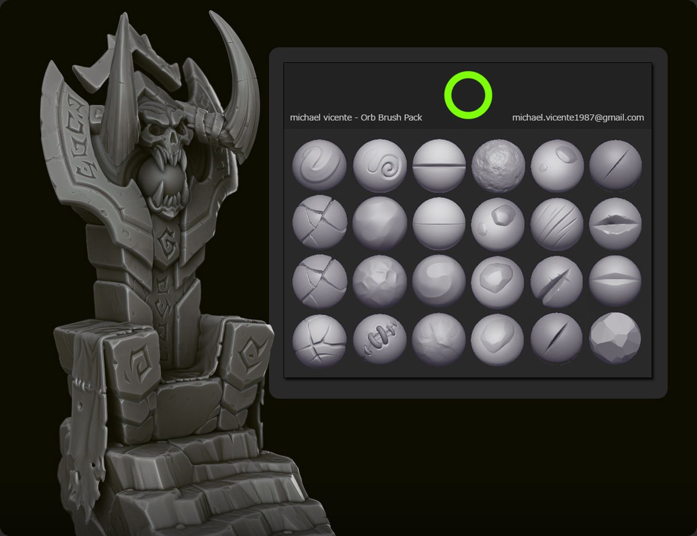 Free Brush pack & pdf on Bevel tips from Michael Vicente
