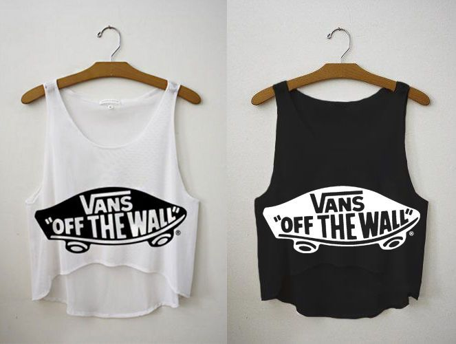 Crop Top - Vans off the walls - Cam Shirts  06ca4c6b985