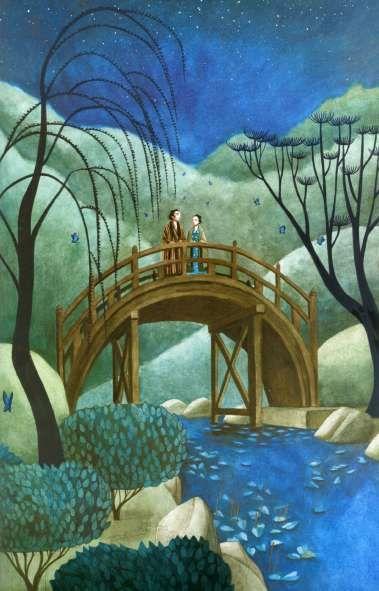 Ilustración de Los Amantes Mariposa, libro escrito e ilustrado por el artista francés Benjamin Lacombe. http://libros-cuentos-infantiles-juveniles.elparquedelosdibujos.com/2016/07/los-amantes-mariposa-benjamin-lacombe.html