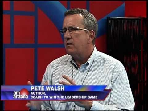 Pete Walsh on AM Arizona discussing his book, Coach to Win the Leadership Game.